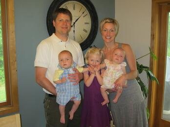 One of Marco's young families - The Hochgraber Family: Josh (Marco Technology Advisor) Amy, Audrey, Creighton and Nora