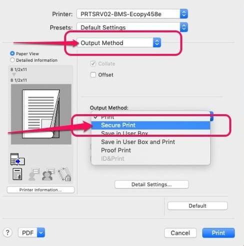 Mac Secure Print2