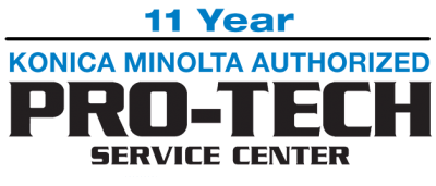 11 Year Konica Minolta Authorized Pro-Tech Service Center