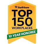 Start Tribune Top 10 Workplaces 10 Year Honoree