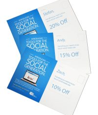 examples of variable data coupon direct mail postcards