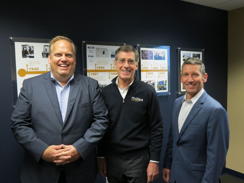 Steve Gau, President of Copier Division, Marco with Peter Phillips, CEO and Owner of Phillips Office Solutions and Bill Shuey, Regional President of Copier & ECM Solutions